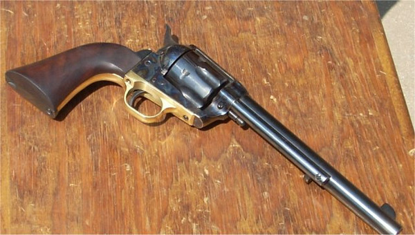 Uberti 1860 Army grip frame on a Uberti 1873 Cattleman?